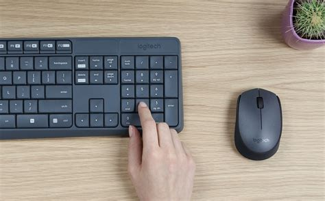 Grosir Logitech Combo Mk235 Mouse Keyboard Wireless logitech mk235 spill resistant keyboard mouse now in