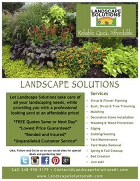 Landscaping Advertising Ideas 1000 Images About Flyers On Pinterest Design Templates Powerpoint Presentation Templates And