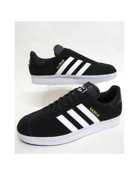 adidas gazelle black adidas gazelle 2 trainers black black white originals