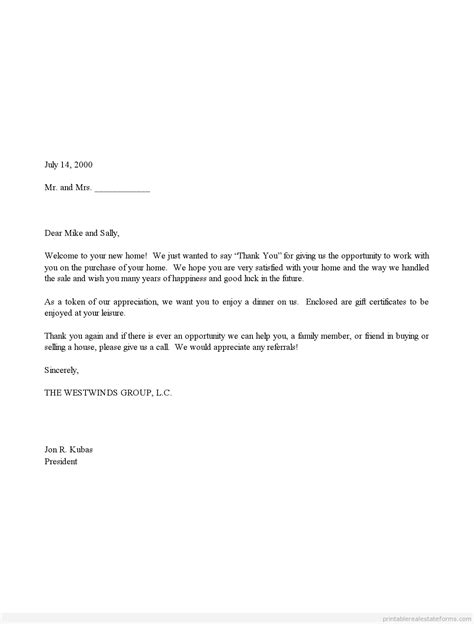 thank you letter sle in business letter of appreciation gift certificate letter pdf
