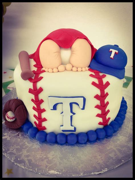 Baseball Baby Shower Cake Ideas by Rangers Cake Baby Shower
