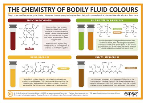 color chemistry the chemistry of the colours of bodily fluids compound