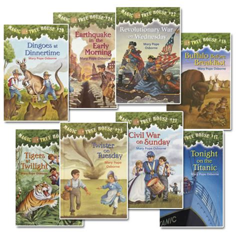pictures of magic treehouse books magic tree house set 3 17 24 set of 8 books