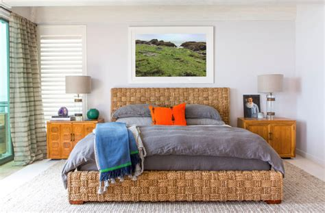california bedrooms malibu house with colorful coastal interior decor