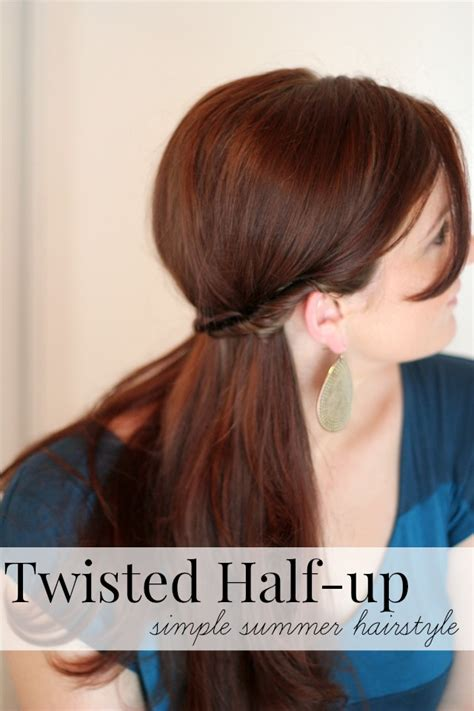 summer hairstyles hair up simple summer hairstyle twisted half up ma nouvelle mode