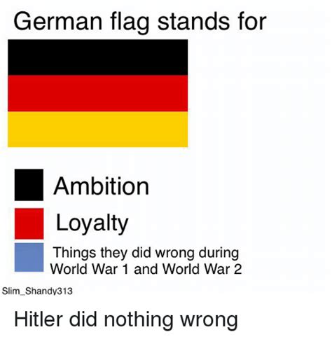 Flag Meme - german flag stands for ambition loyalty things they did