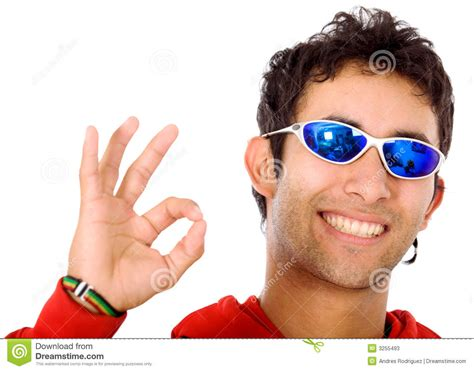cool stock cool guy doing the ok sign stock photos image 3255493