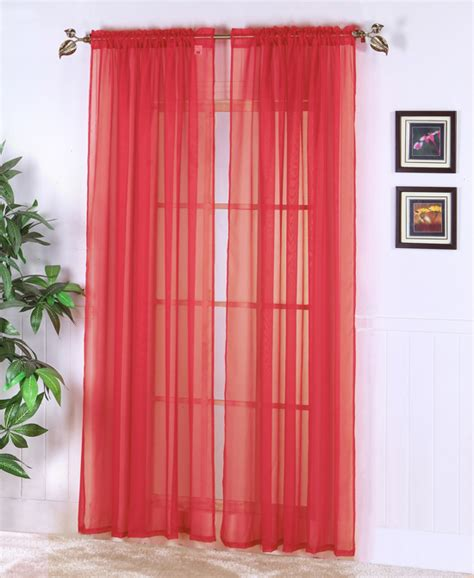 red sheer curtain panels red panels hair dark brown hairs