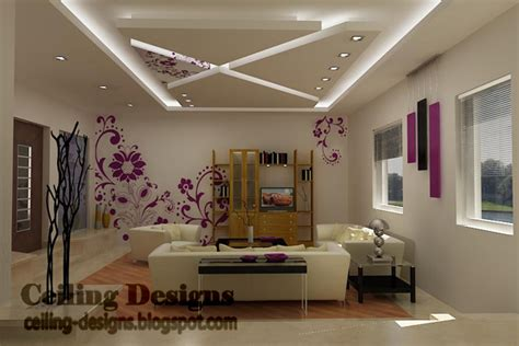 Living Room Gypsum Ceiling by Saved From