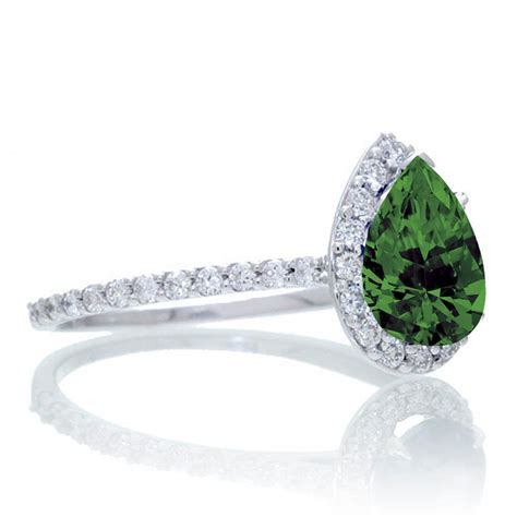 1 5 carat classic pear cut emerald with