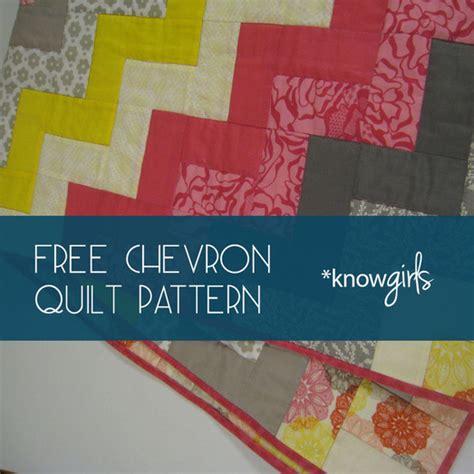 Free Chevron Quilt Pattern by Knowgirls Design Craft Diy Knowgirls
