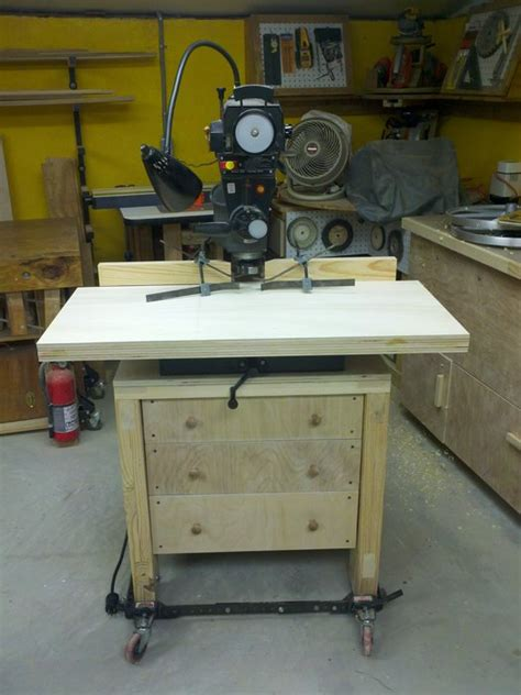 radial arm saw bench radial arm saw cabinet stand and molding shaper fence by