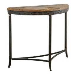 Half Moon Console Table Worldwide Homefurnishings Half Moon Console Table In Distressed Pine 502 244 The Home Depot