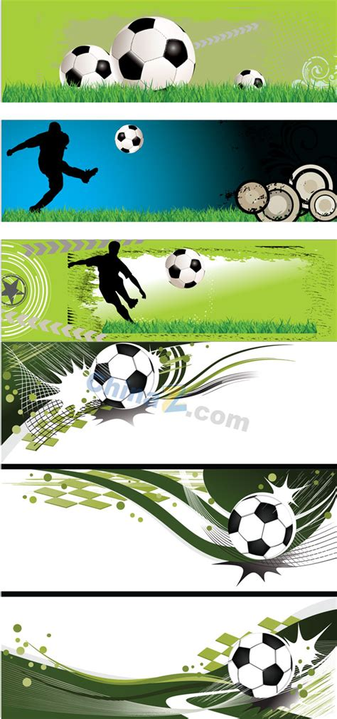 Football Elements Banner Vector Material Over Millions Vectors Stock Photos Hd Pictures Psd Soccer Banner Template