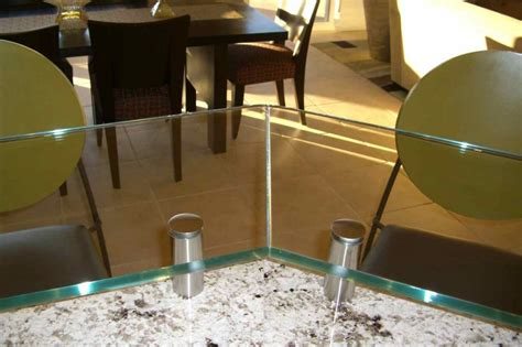 floating bar top glass kitchen counter bar top floating glass bar top