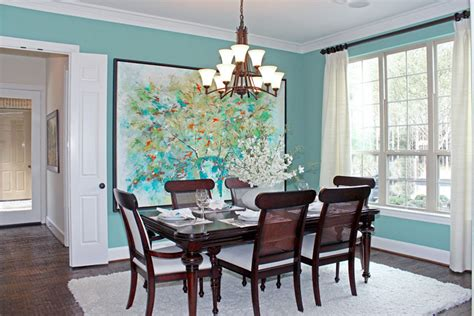 Aqua Dining Room by Remodelaholic Home Sweet Home On A Budget Dining Room