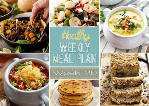 healthy weekly meal plan 20 yummy healthy easy