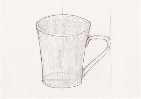 sketsa gelas dengan pensil belajar menggambar