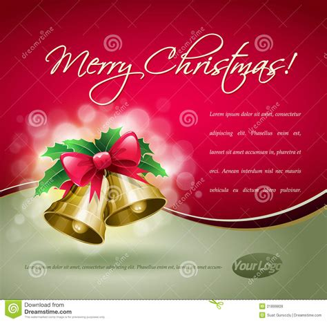christmas bells card royalty  stock images image