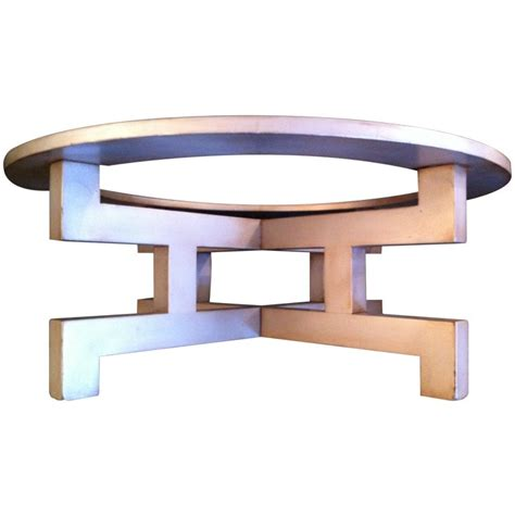 mont silver leaf cocktail table for sale at 1stdibs
