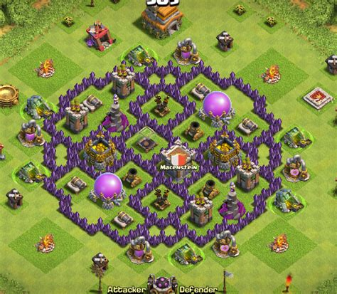 coc layout farming th7 thread best base design for a th7 car pictures