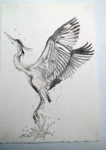 japanese crane tattoo designs blue heron sketch future