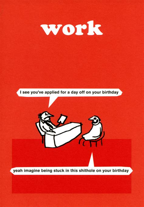 Modern Toss Birthday Cards Funny Birthday Card By Modern Toss Work Day Off On