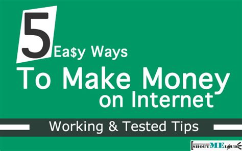 5 Tips To Make Money 5 Easy Ways To Make Money On The Tested Tips