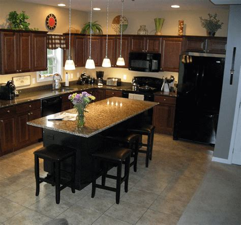 kitchen island overhang how to get an ideal kitchen island overhang
