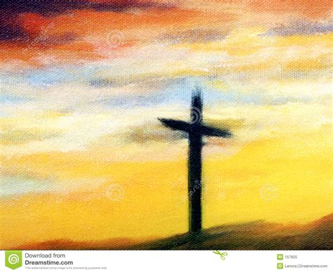 painting to free cross at royalty free stock photo image 157655