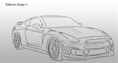 nissan skyline drawing step by image gallery nissan skyline drawings