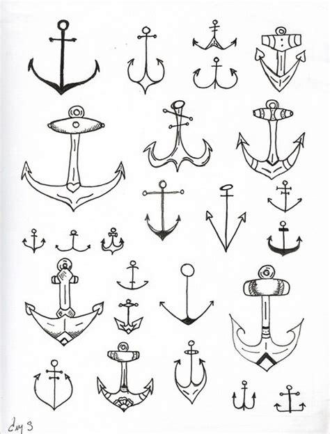 simple anchor tattoo designs simple anchor designs tattooshunt