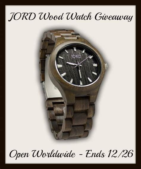 Watch Giveaways - jord wood watch giveaway ends 12 26 13 it s free at last