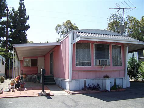Adobe Style Houses by 1950s 60s Mobile Home Pink And White Mobile Home