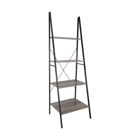 Wooden Ladder Bookcase Industrial Ladder Bookshelf Kmart