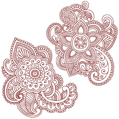 Henna Pattern Vector | henna doodles vector designs on behance
