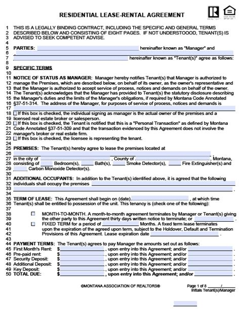 printable one year lease agreement 12 best images of residential lease agreement pdf texas
