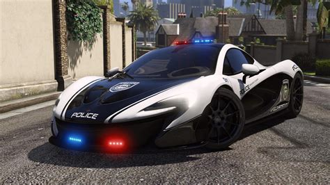 police mclaren mclaren p1 pursuit police add on replace