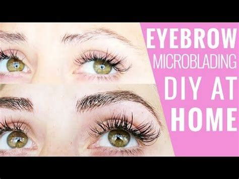tattoo eyebrows at home eyebrow microblading diy at home δ mermaid gossip