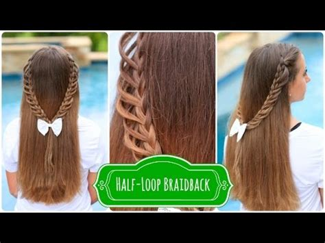 hairstyles for first day back to school half loop braidback back to school hairstyles youtube