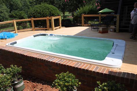 reinforce  deck   hot tub family health