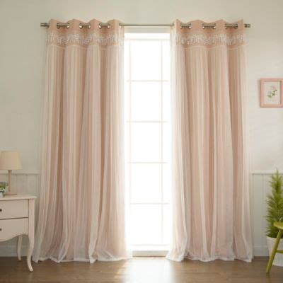 Light Pink Window Curtains Buy Light Pink Curtains From Bed Bath Beyond