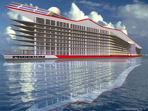 how much is the biggest boat in the world 6 billion floating city freedom to dwarf world s