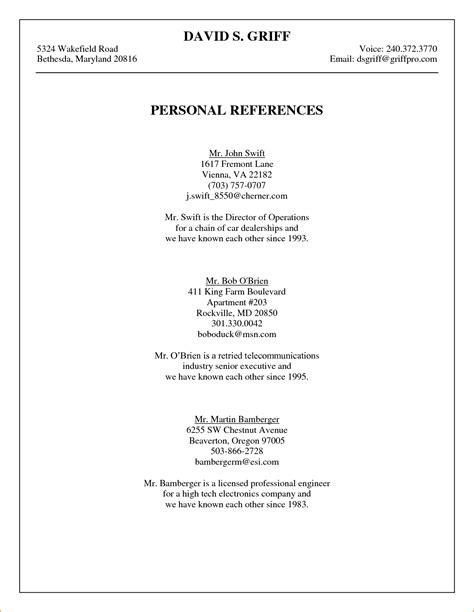 resume references template word najmlaemah resume references template word najmlaemah