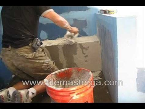 cinder block shower bench part 2 how to build waterproof shower bench quot seat