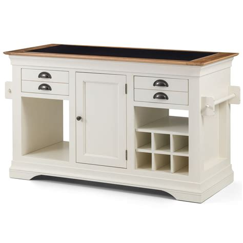 kitchen island marble top home source furniture dijon cream painted furniture large granite top kitchen
