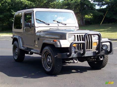 1990 jeep wrangler interior 1990 sand beige metallic jeep wrangler 4x4