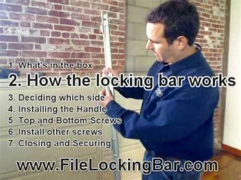 Installing File Locking Bar on filing cabinet   YouTube