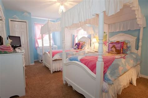 real princess bedroom a touch of magic and canopy beds help kids feel like
