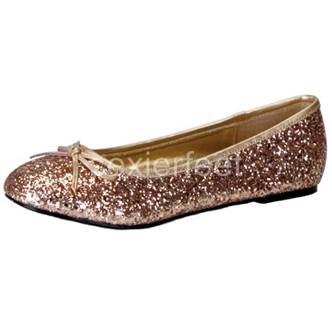 glitter shoes flats pleaser s glitter flats shoes star16g ebay